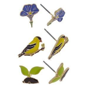 Jewelry - Pretty Floral/Bird Earring Set